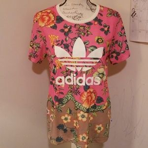 Women's Adidas Floral Shirt XS/S LQQK